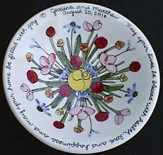 personalized platter chai pottery blessing bowl photo gallery