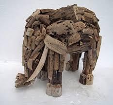 made driftwood standing elephant driftwood elephant