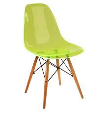 eames plastic chair green
