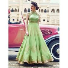 party wear gowns buy light green silk embroidered party wear gown online