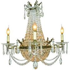 Pearl Chandelier Light French Empire Style Gilt Bronze And Crystal Sac De Pearl