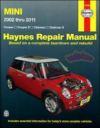 mini cooper shop manual service repair book clubman s haynes