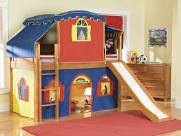 Kids Room Furniture For Two Size Bed Amusing Kids Bedroom Design With Lovely Wallpaper And