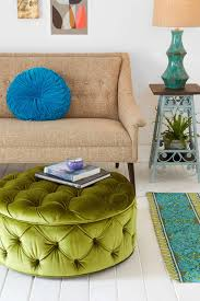 mix and chic fabulous finds round tufted ottoman for less than 150