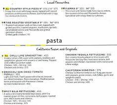 Menu California Pizza Kitchen by California Pizza Kitchen Menu Online Menu For California Pizza