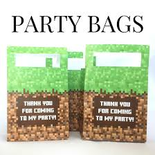 minecraft goody bags printable minecraft party favor bags minecraft printables