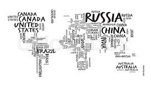 world map with countries name world map with countries name text or typography sketch