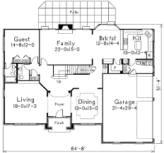 six bedroom floor plans fully equipped six bedroom home plan 57018ha architectural