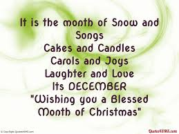it is the month of snow and songs wish quotes4sms