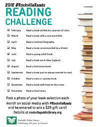 2018 rpl reading challenge rockville library