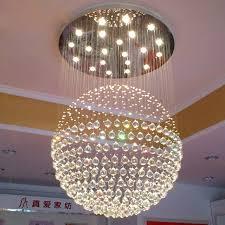 luminaire pour chambre b moderne de luxe duplex bâtiment cristal lustre boule ronde accrocher