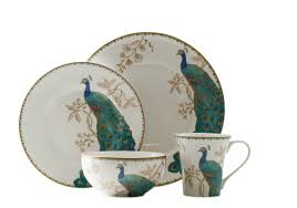 thanksgiving china sets 222 fifth peacock garden 16 piece dinnerware set service for 4
