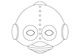 coloring alluring robot mask template nfu coloring