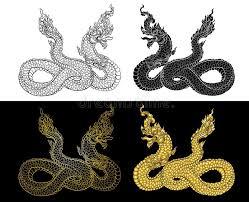 naga tattoo thailand hand drawn thai dragon on water line thai is thailand style and