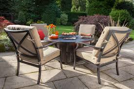 Outdoor Furniture With Fire Pit Table by Hartman Florence Emberglow Gas Fire Pit Set Metal Garden