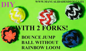 how to make bouncy balls toy with two forks without loom rubber