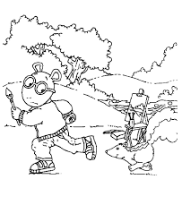 arthur coloring pages getcoloringpages com