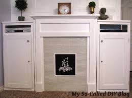 my so called diy blog project bonus room faux fireplace and cabinets