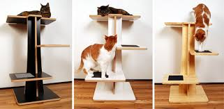 Modern Cat Trees Furniture by Acacia U0026 Baobab Modern Cat Trees From Square Cat Habitat U2022 Hauspanther
