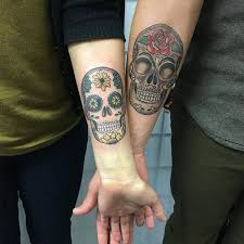 day of the dead couple tattoos creativefan