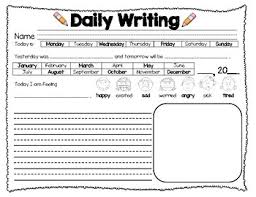 daily writing worksheet by vanessa gruner teachers pay teachers