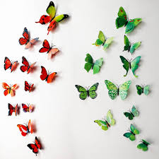 butterfly flower fairy wall stickers for kids room decor children butterfly wall decals multicolor pvc wall stickers for tv wall butterfly stickers for wall