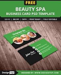 free beauty spa business card psd template on behance