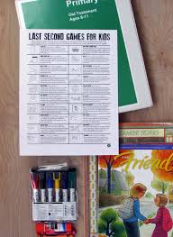 last minute games when your primary lesson goes short the mormon