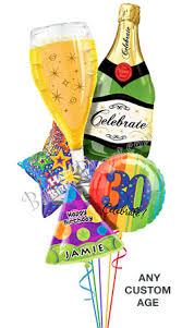 custom balloon bouquet delivery custom name age bubbly birthday balloon bouquet 5 balloons