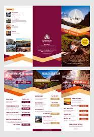 contoh desain brosur hotel contoh desain brosur lipat tiga desain dan percetakan karawang