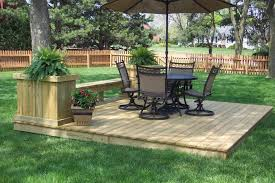 Plans For Outdoor Furniture by Deck Stunning Ground Level Deck Plans For Inspiring Outdoor