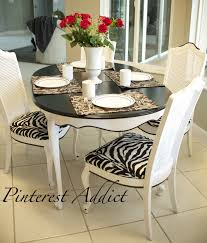 Zebra Dining Room Chairs by Adding A Little Zebra Never Hurt Anything Pinterest Addict