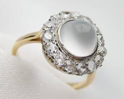 moonstone engagement rings moonstone diamond halo ring non traditional
