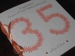 35 wedding anniversary personalised 35th coral handmade wedding anniversary cards