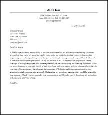 Sample Forklift Operator Resume by 28 Warehouse Operator Cover Letter Best Machine Operator Cover