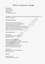 Sample Resume Objectives For Volunteer by Volunteer Resume Free Resume Example And Writing Download