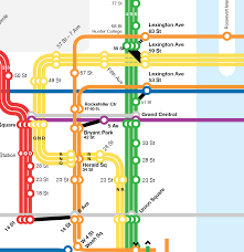 Myc Subway Map by Leo Mancini Design Nyc Subway Map Experiment