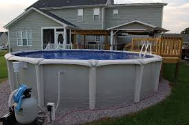 above ground pool landscape designs intex above ground pool