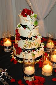 a red black and gold winter wedding las vegas wedding planner
