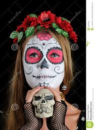 halloween make up mexican mask stock photo image 46203647