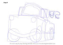 learn how to draw tow mater from cars cars step by step
