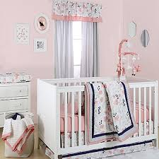 Pink Floral Crib Bedding The Peanut Shell Floral Crib Bedding Collection In Coral Buybuy