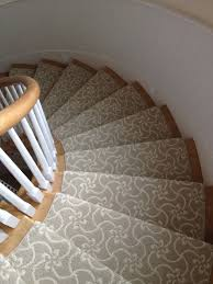 Stair Protectors by Interior Striped Patterned Carpet Runner With Chromed Metal Rod