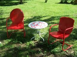 Antique Metal Patio Chairs Retro Metal Outdoor Furniture
