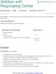 lesson plans for second grade math education com