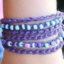 crochet bracelet diy images Crochet bracelet tutorial with leather tassels darice jpg