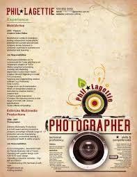 photographer resume resume for your job application