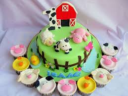 barn cake topper barn cake with animal cupcakes