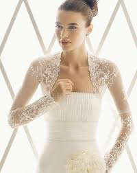 lace wedding dress with jacket fantastic style lace collarless sleeves beaded wedding