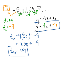 showme arithmetic sequences linear functions